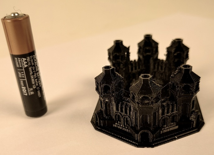 Six Tower Castle 3D Print 6562