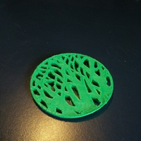 Small Tree silhouette coaster 3D Printing 6626
