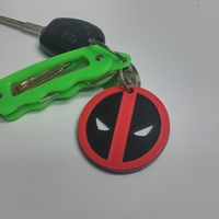 Small Deadpool Keychain 3D Printing 6711