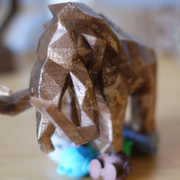 Small Low Poly Mammoth 3D Printing 6733
