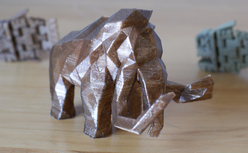 Low Poly Mammoth 3D Print 6735