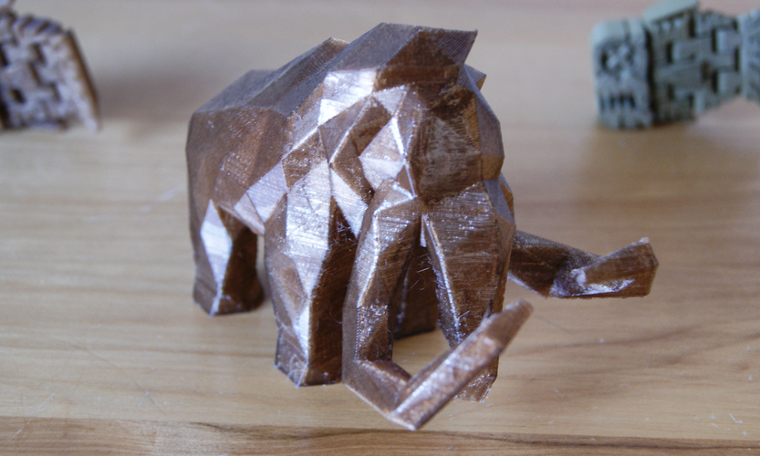 Low Poly Mammoth 3D Print 6736