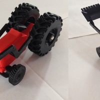 Small Toys Tractor 3D Printing 6740
