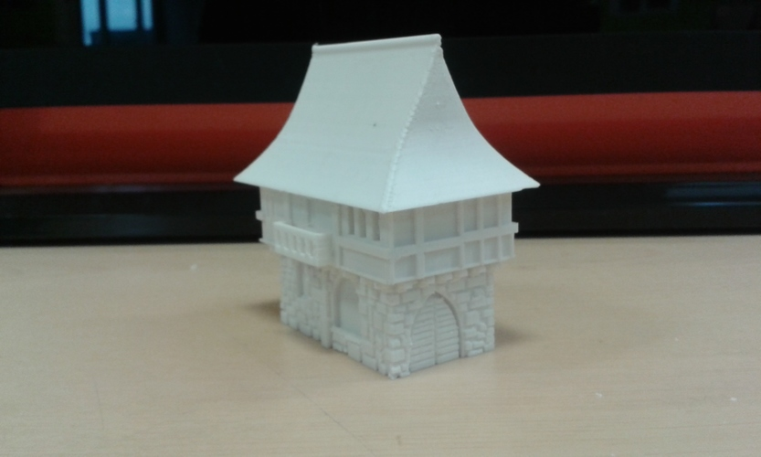 Tudor style house for wargaming 3D Print 6793