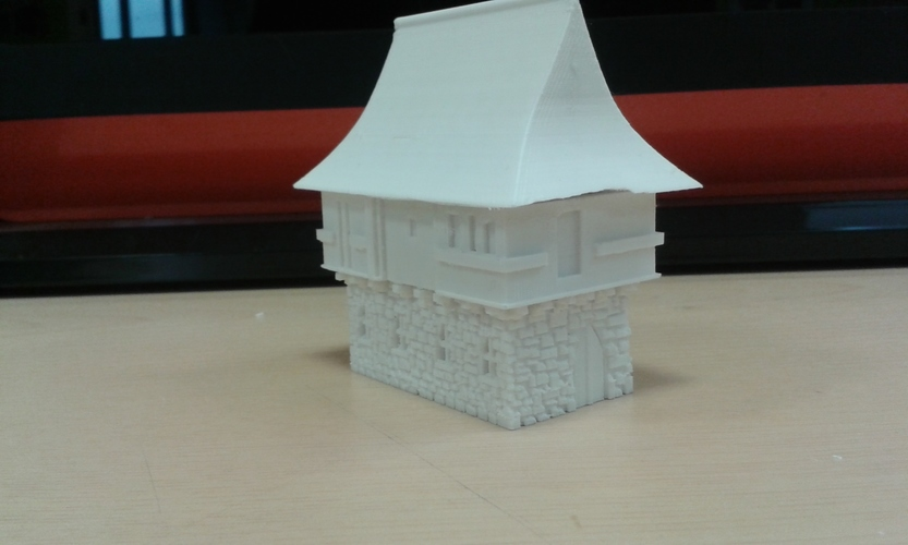 Tudor style house for wargaming 3D Print 6795