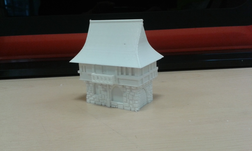 Tudor style house for wargaming 3D Print 6796