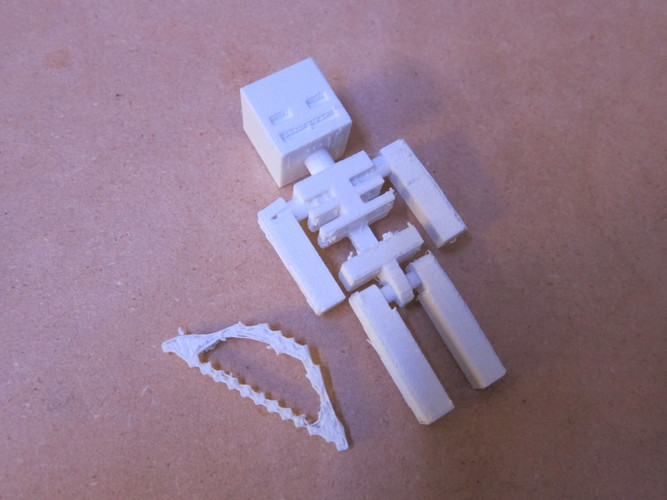 Minecraft Skeleton Toy 3D Print 682