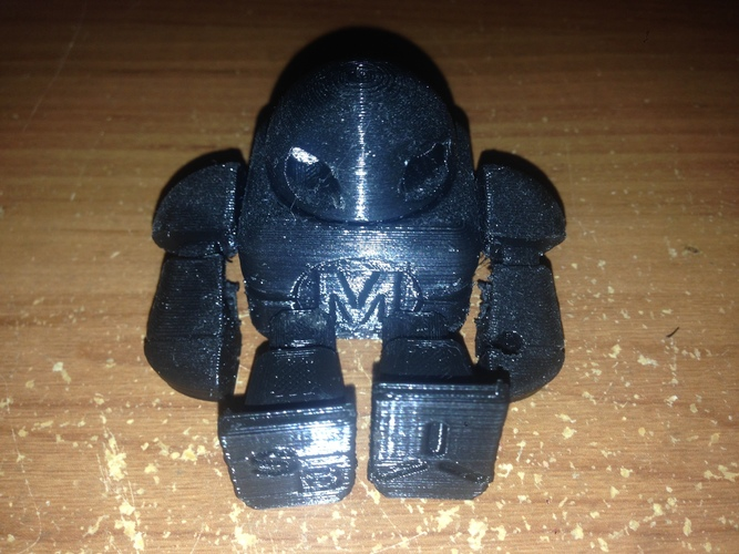 Mini Maker Faire Robot Action Figure 3D Print 6887