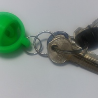Small gyroscopic keychain 3D Printing 6898