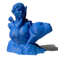 Small Bust - The Huntress v1.2 3D Printing 691