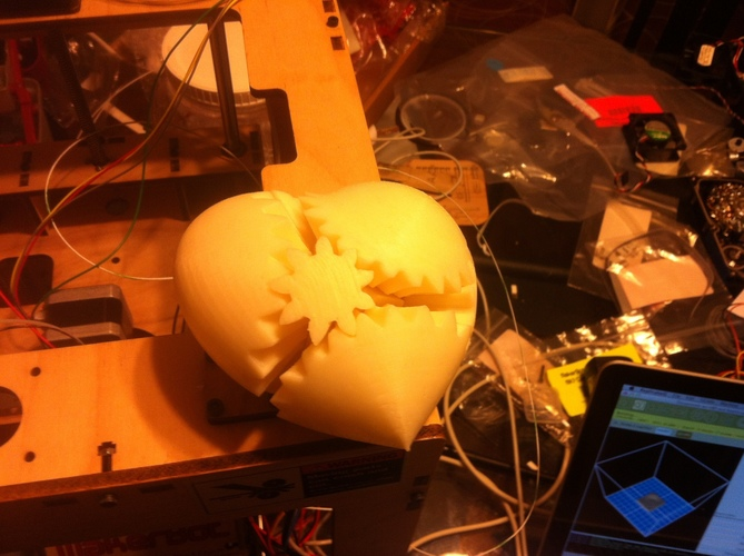 Geared Heart, Motorized Edition -JAY Fix 3D Print 6936
