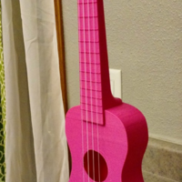 "Small ""Nukulele"" Playable soprano Ukulele, sounds great printable with 3D Printing 6961"