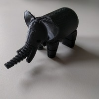 Small Elephant 3D Printing 7017
