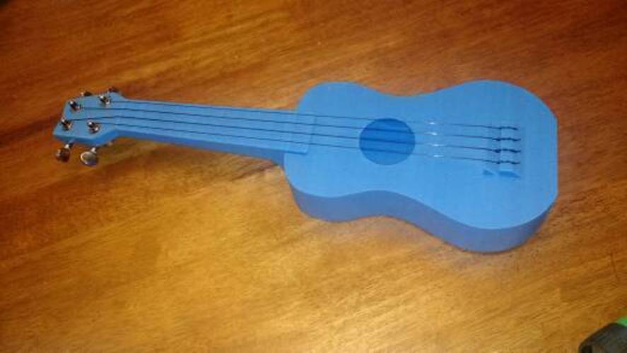 """Nukulele"" Playable soprano Ukulele, sounds great printable with 3D Print 7070"