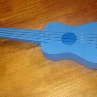 "Small ""Nukulele"" Playable soprano Ukulele, sounds great printable with 3D Printing 7070"