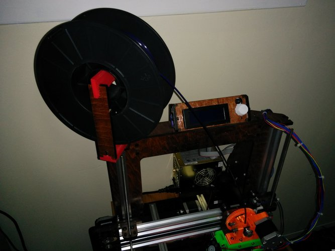 Makerfarm Prusa i3v Spool Holder Extension 3D Print 7131