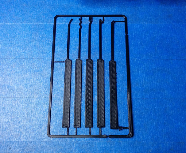 Lock Pick Set Card 3D Print 7293