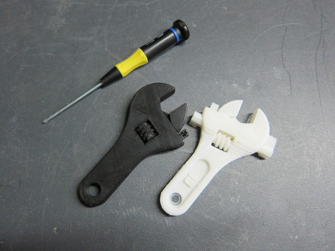 Fully assembled 3D printable wrench 3D Print 7333