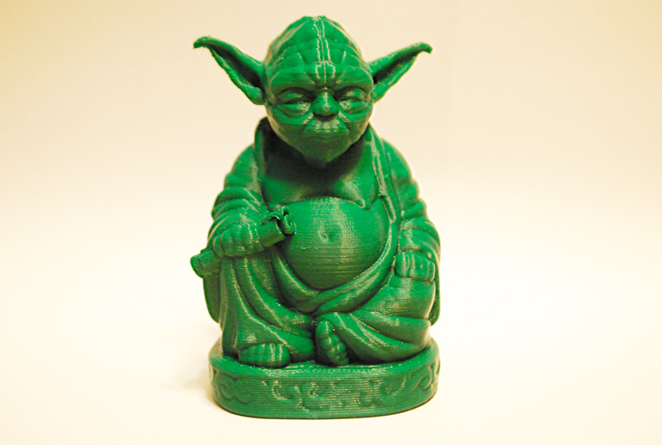 Improved Yoda Buddha w/ Lightsaber  3D Print 7427
