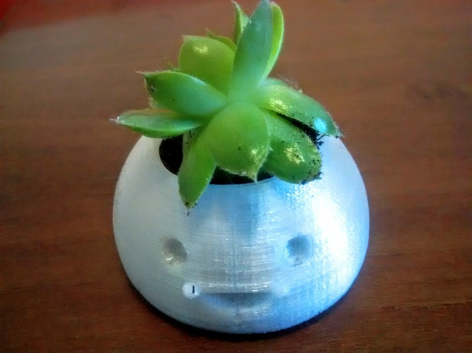 Small Ceramic Happy Pot 3D Print 756