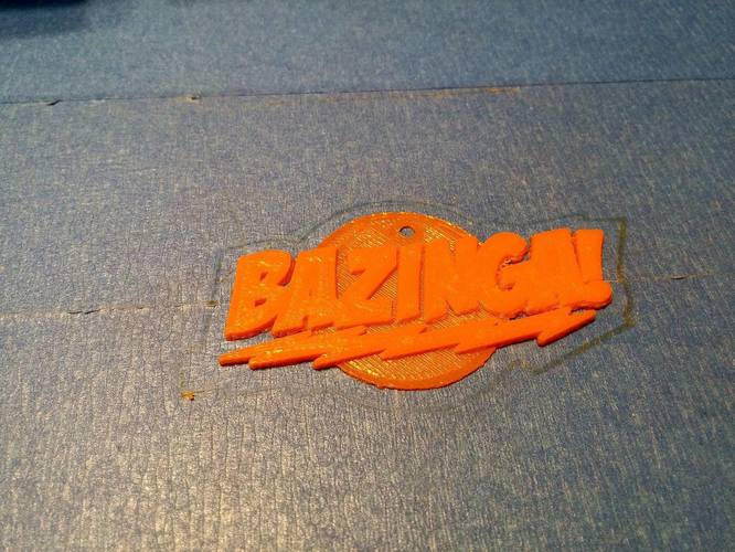 BAZINGA! Big Bang Theory  3D Print 7697