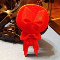"Small Deadpool ""Feel The Love"" Magnet 3D Printing 7746"