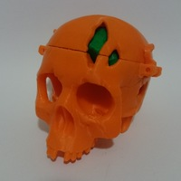 Small Boneheads: Skull Box w/ Brain - via 3DKitbash.com 3D Printing 780