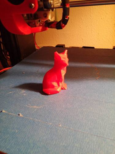 Low Poly Fox 3D Print 8000