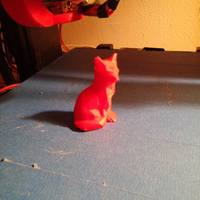 Small Low Poly Fox 3D Printing 8000