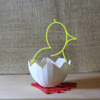 Small easter chick 3D Printing 8100
