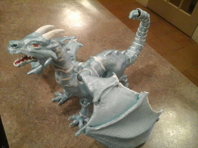 """Braq""  jointed dragon 3D Print 8148"