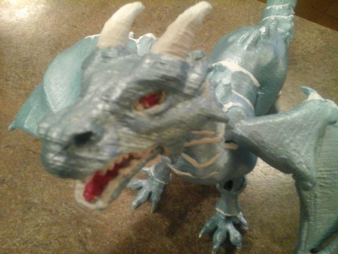 """Braq""  jointed dragon 3D Print 8149"