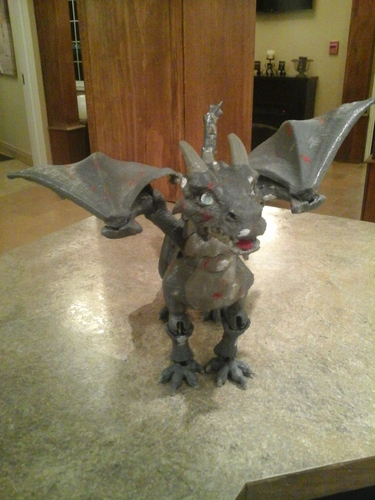 """Braq""  jointed dragon 3D Print 8154"