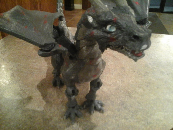 """Braq""  jointed dragon 3D Print 8155"
