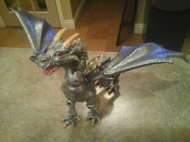 """Braq""  jointed dragon 3D Print 8156"