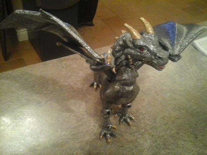 """Braq""  jointed dragon 3D Print 8158"