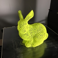 Small Stanford Easter Bunny - Voronoi 3D Printing 8222