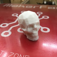Small Low Poly Skull 3D Printing 8532