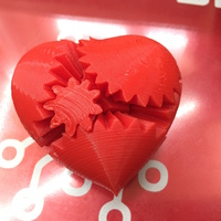 Small Screwless Heart Gears - Plated 3D Printing 8537