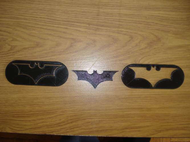 Batman Logo-2 models in one STL file 3D Print 8546