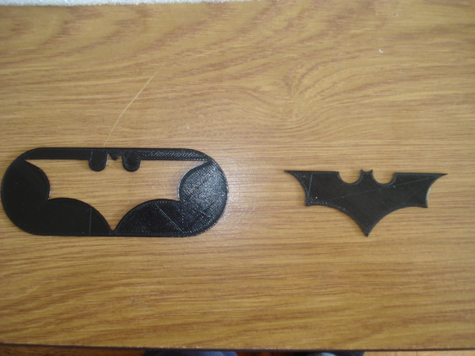 Batman Logo-2 models in one STL file 3D Print 8548
