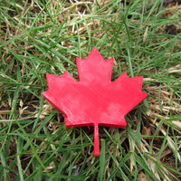 Small Maple Leaf - Canada Day! 3D Printing 857
