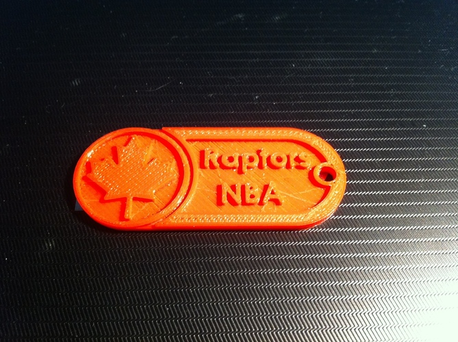 Key Chain-NBA Raptors 3D Print 8600