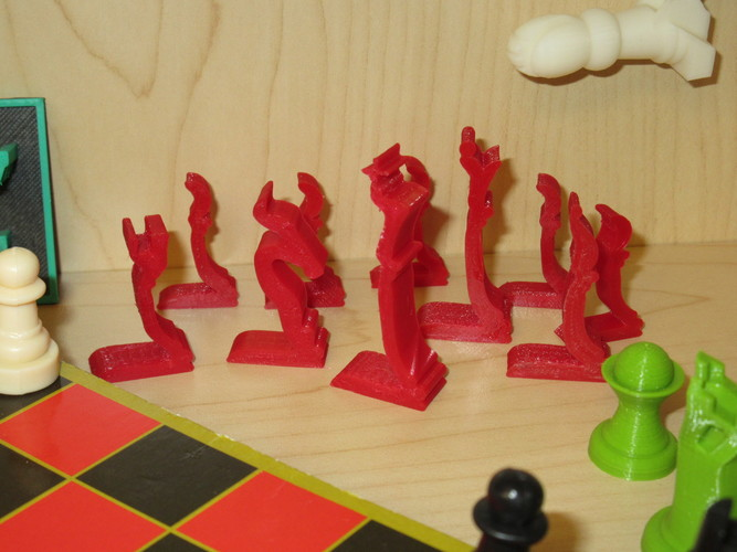 Chess Set - Profiles - Mk1 3D Print 8602