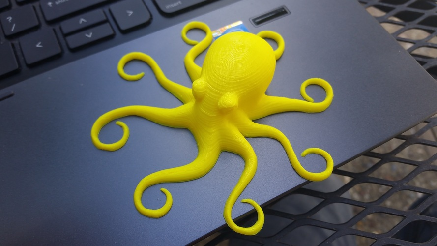 3D Printed Octopuses for quality test [ size=50mm ] (1) 3D Print 8609
