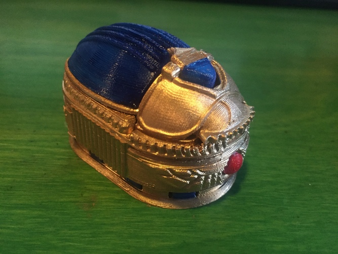 Scarab Beetle Box (with secret lock) 3D Print 8635