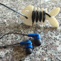 Small Head Phone Cord Fish 3D Printing 8640