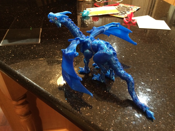 """Braq""  jointed dragon 3D Print 8669"