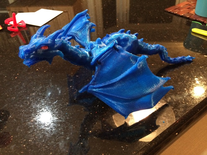 """Braq""  jointed dragon 3D Print 8670"