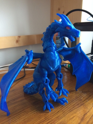 """Braq""  jointed dragon 3D Print 8671"